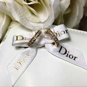 🌹Vtg Christian Dior Chunky Gold Hoop Earrings🌹